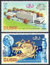 Dubai 1970 UPU/Buildings/Architecture/Statue/Tower/Space/Satellite 2v set n40911