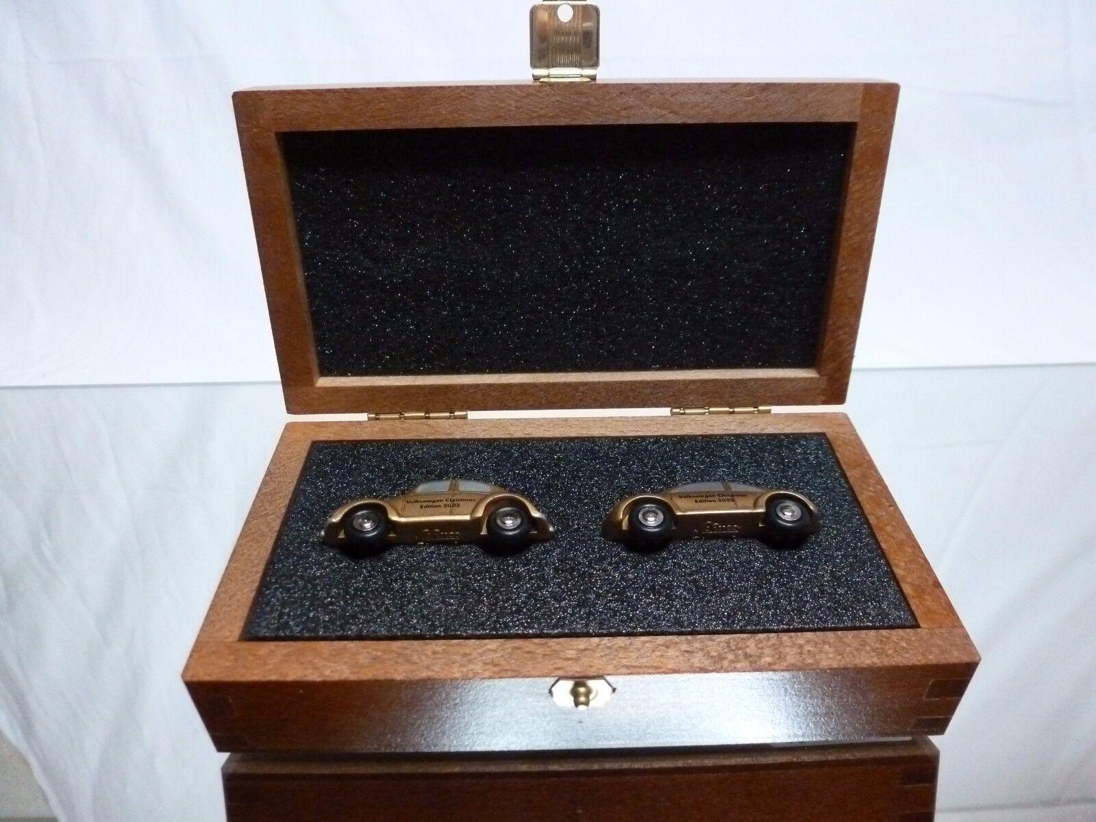 SCHUCO 0753 VW VOLKSWAGEN BEETLE - CHRISTMAS 2002 - oro 1 87 RARE - EXCELLENT