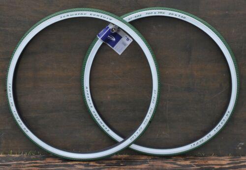 "700x35 Green Whitewall C 29er Schwalbe Bicycle Tires 28/"" Antique Wood Wheel Bike"