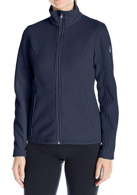 Size L Spyder Women/'s Endure Full Zip Mid Weight Stryke Jacket White