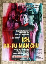 CHR.  LEE * ICH DR. FU MAN CHU - A1-Filmposter EA -Ger 1-Sheet ´65 HANDSIGNIERT