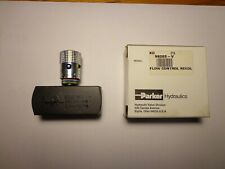 Parker N620s Steel Hydraulic Flow Control Needle Valve 5000 Psi 5 Gallonsminute