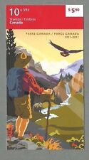 CANADA 2011 Booklet - PARKS CANADA 1911 to 2011 - 10 x 59c.  Complete MNH