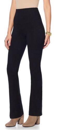 Yummie Tummie Jodi Boot-Cut Legging Black Sz 2X Cotton Spandex Blend 610465