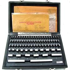 Hfsr 81pcs Grade B Gage Gauge Block Set Usa Cert Nist Traceable New