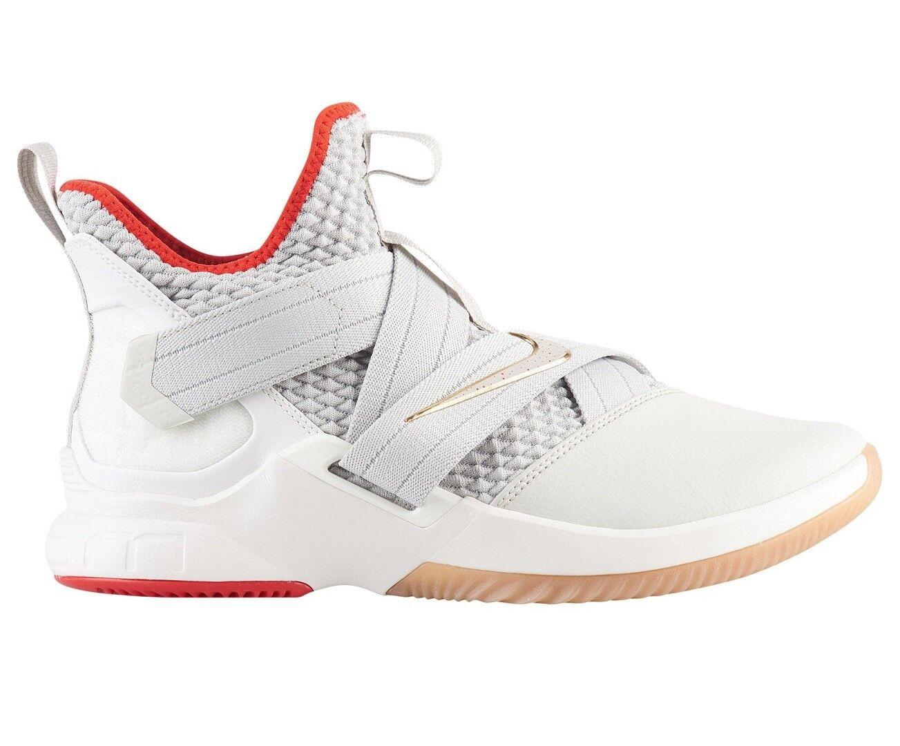 Nike Lebron Soldier XII 12 Mens AO2609-002 Light Bone Basketball Shoes Size 8