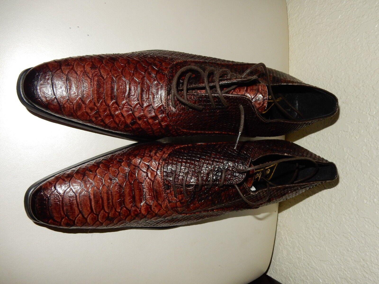 Zapatos Derby python python Derby hecho a mano 5e6696