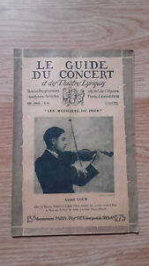 El Guía de La Concierto Y Las Teatro Letra - Andre Loew - N º 28-1928