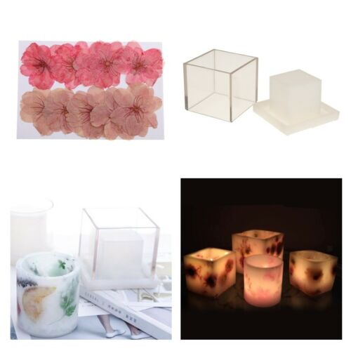 Hollow Candle Making Mould DIY Scented Decorative Candles Dried Flowers Mold