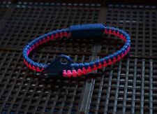 Zip zipper bracelet - blue and pink