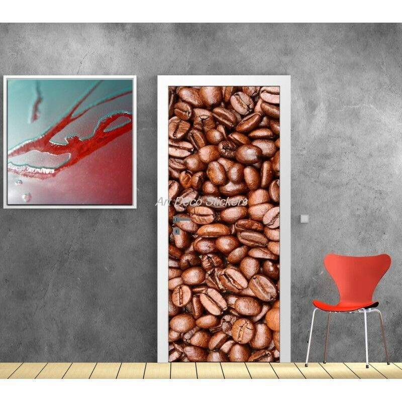 Aufkleber für Türe Täuschung Auge Deko Kaffee 582
