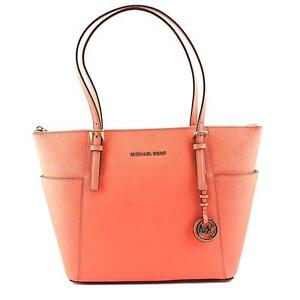 5f7019071a62 Michael Kors Jet Set Item EW Top Zip Tote Pink Grapefruit - 30F2GTTT8L