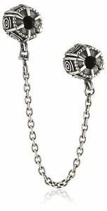 100-Genuine-Pandora-SILVER-ABSTRACT-DREAMER-SAFETY-CHAIN-CLIP-CHARM-790583-DISC