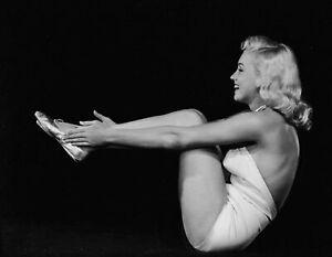 Iconic Arts Laminated 25x20 Poster: Marilyn Monroe - Pilates Marilyn