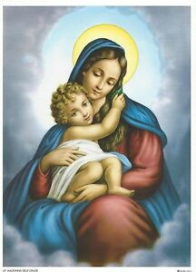Catholic-Print-Picture-MOTHER-OF-DIVINE-GRACE-Mary-7-1-2x10-034-ready-to-frame