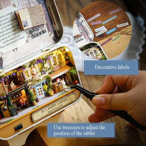 Mini Dollhouse Miniature Assembling DIY Furniture Doll Houses Kids Handmade Toys
