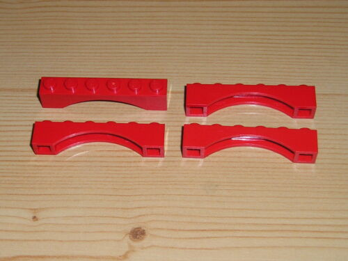 Lego 4 x Brückenstein Arch Bogenstein 1x6 3455 rot 384 396 7938 4708 6264 2150