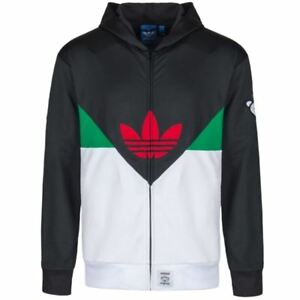 Detalles de Adidas Originales X Nigo Colorado FZ Sudadera Con Capucha Retro De Diseñador M L XL XXL para Hombres Cálido ver título original