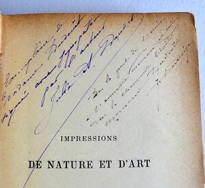 Julia-DAUDET-Impressions-de-Nature-et-d-039-art-1887-Envoi-de-l-039-auteur-Premier-roman