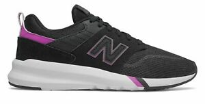 Detalles acerca de New Balance de mujer 009 Zapatos Negro Con Morado-  mostrar título original