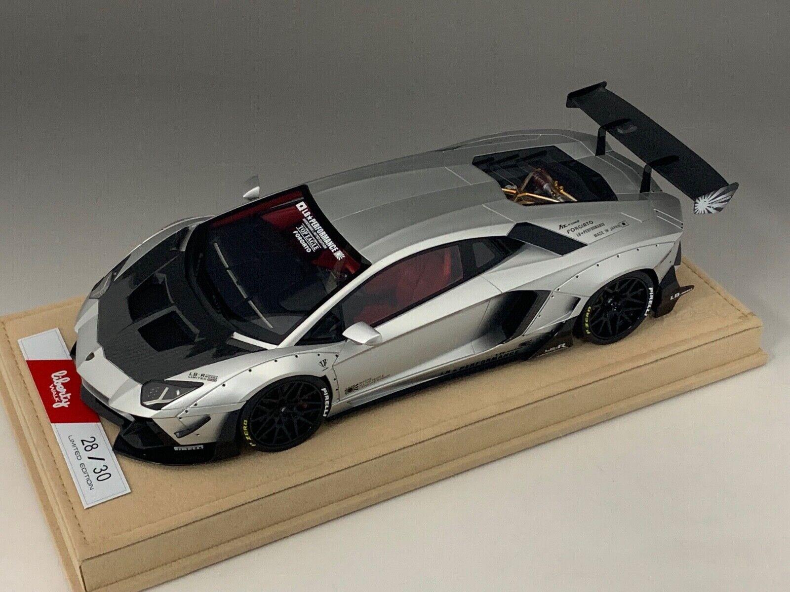 1 18 Lamborghini Aventador Liberty Walk LB Performance Matt Chrome  BBR or MR