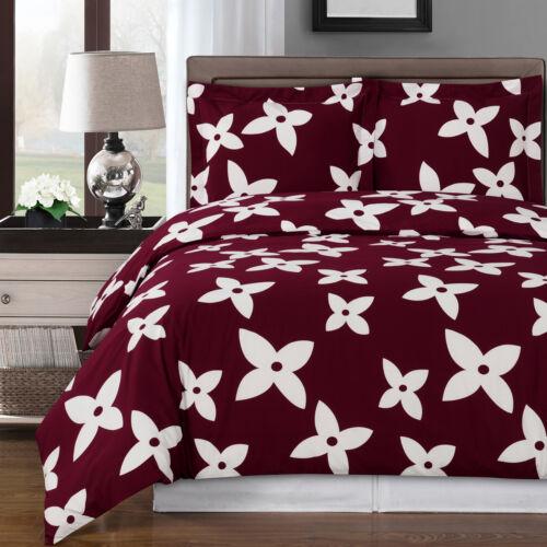 3pc Desiree Duvet Cover Set 100/% Combed  Cotton 300TC Soft /& Comfortable