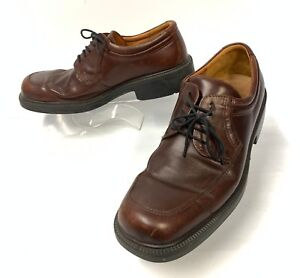 2417e99ad9d ECCO Mens Derby Oxfords Size 10.5 US 44 EUR Brown Leather shock ...