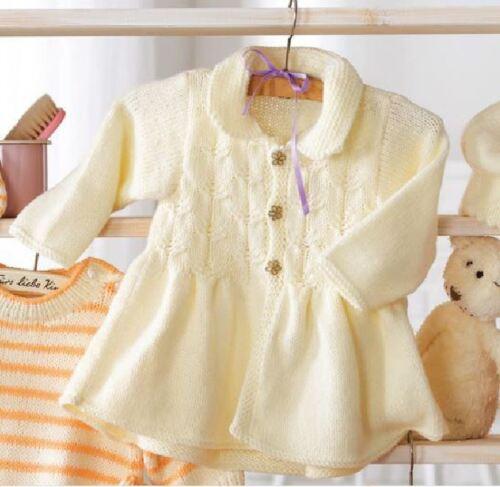 Knitting Pattern Baby Girl/'s DK Smock Top Dress 3-24 months 64