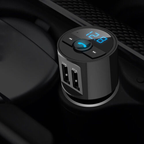 1x Bluetooth Car Dual USB Charger FM Transmitter Radio Adapter MP3 Player