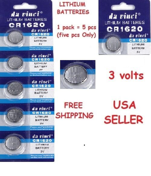25pc Li-ion CR1620 Batteries CR 1620 3V Lithium Button Coin Cell Battery Remote