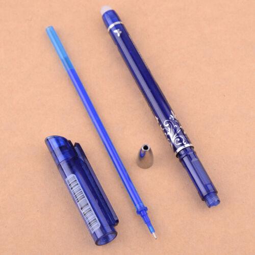 12X Löschbar Tintenroller Gel Stift Pen Gelschreiber Glattes Schreiben Blau 0.5