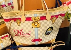 94366cc292265 Image is loading MIAMI-Louis-Vuitton-Summer-Trunk-Damier-Azur-Neverfull-