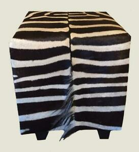 Wondrous Details About Genuine Burchell Zebra Hide Skin Ottoman Footstool Cube New 22 X 18 X 18 Creativecarmelina Interior Chair Design Creativecarmelinacom