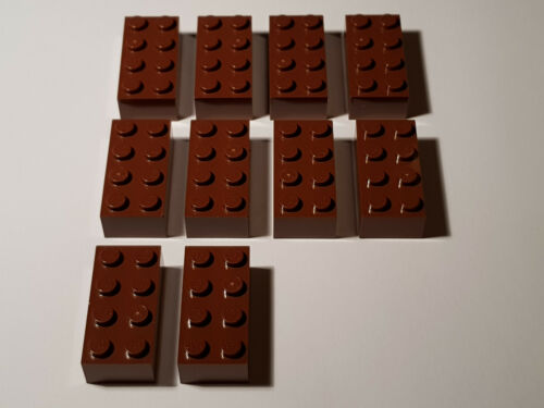 LEGO ® 10 x 3001 Basic pietra 2 x 4 rosse-marroni 4211201 Reddish Brown #aa53