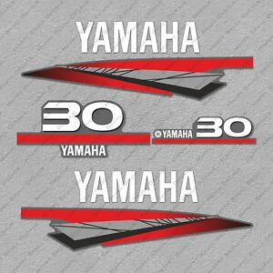 Yamaha 30 HP Two 2 Stroke Outboard Engine Decals Sticker Set