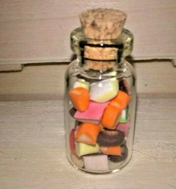 Miniature Candy Jars 1 to 12 Miniature Sweets Dispenser 12th Scale Miniatures