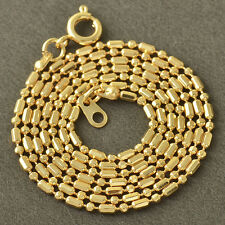 Fashion jewellery Womens charm 18K Gold Plated Beaded Chain Necklace,20 Inch