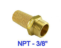 5pcs Brass Silencer Connector Npt 3/8  Noise Reduce Air Valve Muffler Fitting