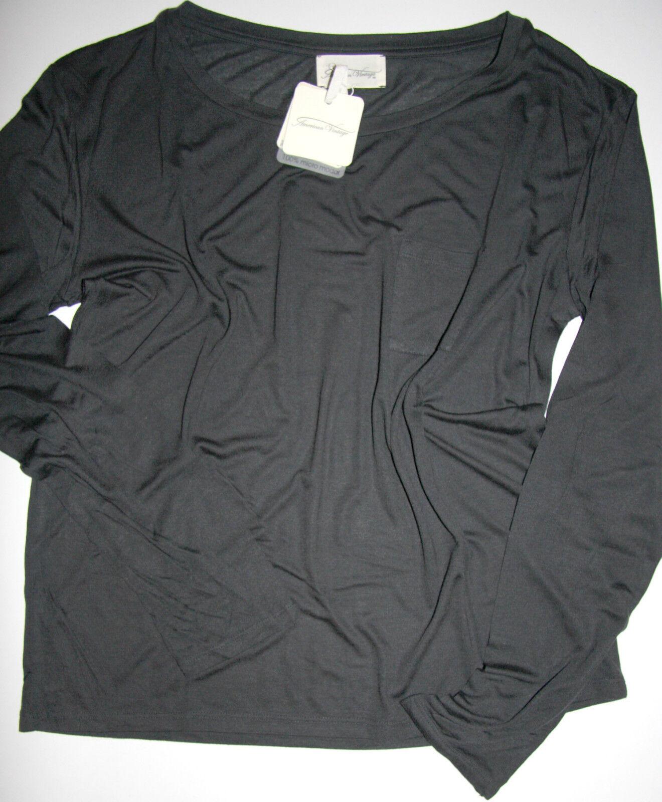 American Vintage Shirt Langarm  Theme Los Almos  Carbone Größe  M Neu