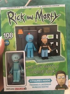 Rick and Morty Construction Set Smith Garage familial Rack 108 pieces sealed