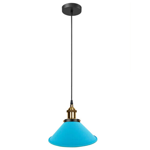 Vintage Industrial Metal Retro Colour Ceiling Hanging Pendant Light Shade Modern