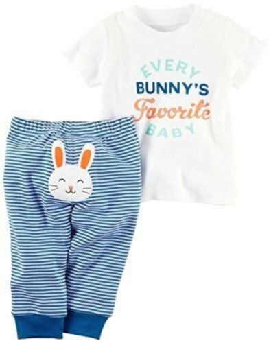 Carter/'s Every Bunny/'s Favorite Baby Shirt /& Pant Set 6 Months