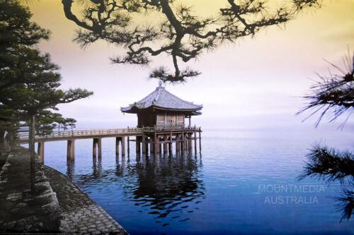 61X91CM LAMINATED NEW LICENSED ART ZEN UKIMIDOU TEMPLE JAPAN POSTER