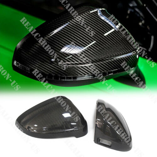 for Audi RS4 S4 A4 B9 car mirror cover carbon fiber Replacement with side assist