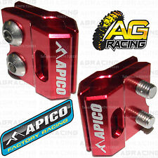 Apico Red Brake Hose Brake Line Clamp For Kawasaki KXF 450 2011 Motocross New