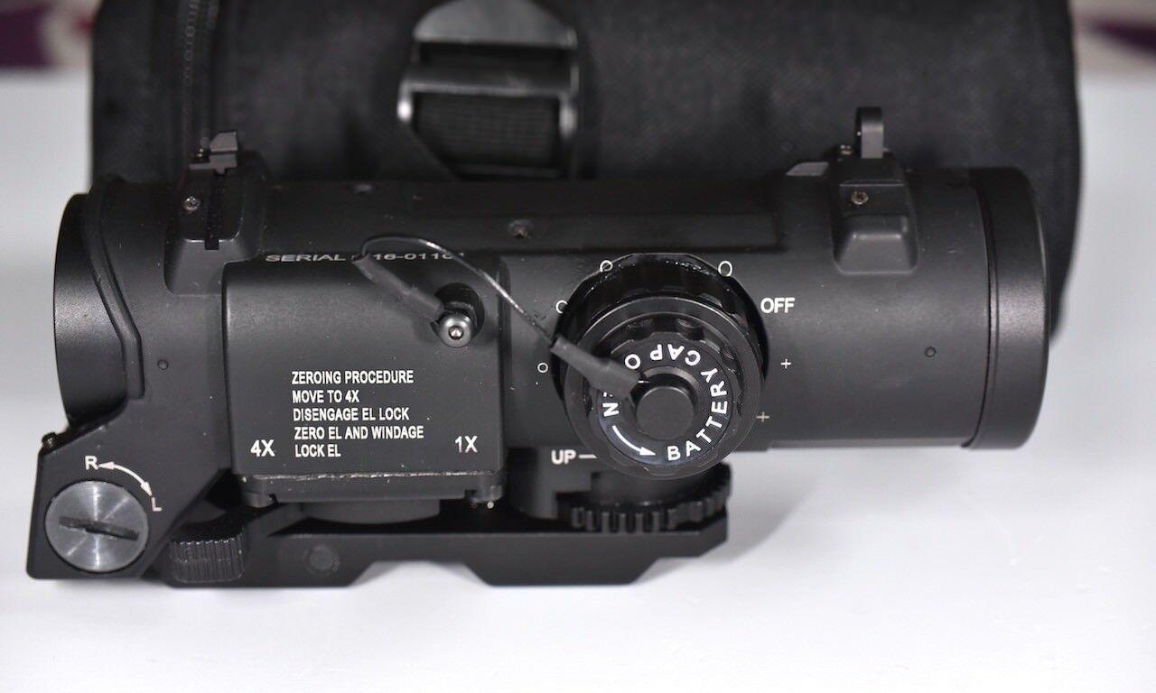Specter DR 1&4X Zoom Illuminated Cross Hair Rifle Scope