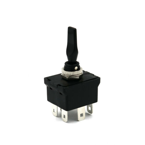 SCI R13-54B 6Pin Momentary MOM-OFF-MOM Self Return DPDT Paddle Toggle Switch
