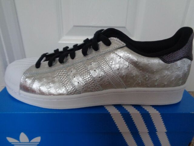 Mens adidas Superstar Silver Leather Casual Trainers AQ4701 UK 8 EUR 42