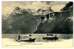 CPA-Suisse-Centrale-Uri-Rothstock-Von-Brunnen-Aus-anime-bateaux