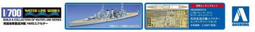 Aoshima Waterline 52730 British Heavy Cruiser HMS Exeter 1//700 scale kit